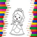 Princess Coloring Book 👸🎨 – Games for Girls 🌈 1.1.3 (MOD, Unlimited Money)