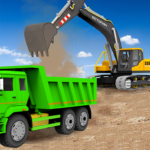 Sand Excavator Truck Driving Rescue Simulator game 5.8.2  (MOD, Unlimited Money)