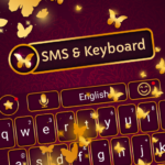 Gold keyboard theme and SMS messenger theme 3.4.0 (MOD, Unlimited Money)