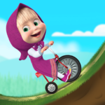 Masha and the Bear: Climb Racing and Car Games 3.4.3  (MOD, Unlimited Money)