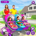 New Mother Baby Triplets Family Simulator 1.1.8 (MOD, Unlimited Money)