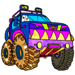 Vehicles Paint by Number:Glitter + Crayon Coloring 1.8 (MOD, Unlimited Money)
