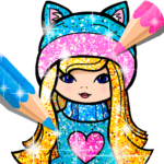 Girls Coloring Book for Kids Glitter  (MOD, Unlimited  Money) 1.1.6.4